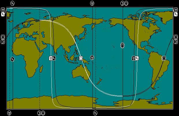 JUN 1, 2011 Partial Solar Eclipse Astro-Locality Map