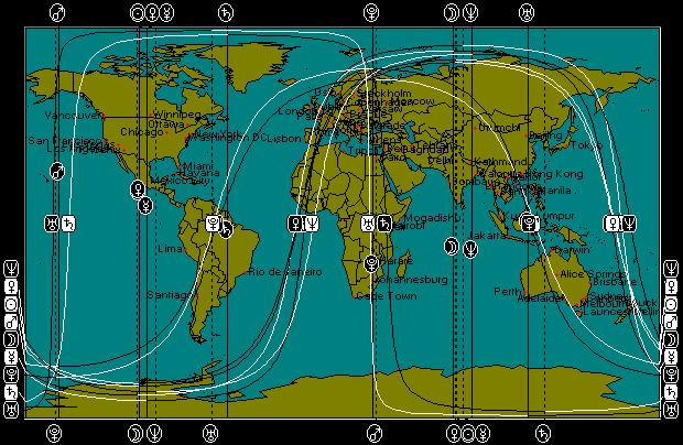 August 13, 2011 Full Moon Astro-Map