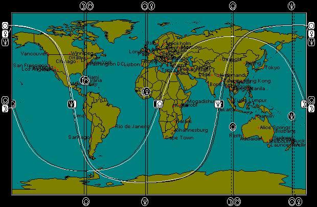 AUG 23, 2011 Lunar North Declination Peak Astro-Locality Map