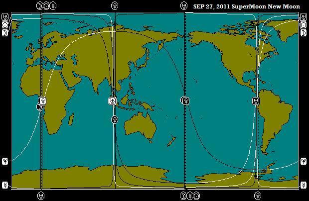 September 27, 2011 New Moon SuperMoon Astro-Map