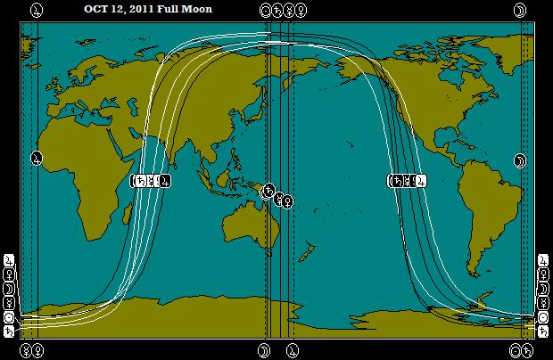 OCT 12, 2011 Full Moon Astro-Locality Map