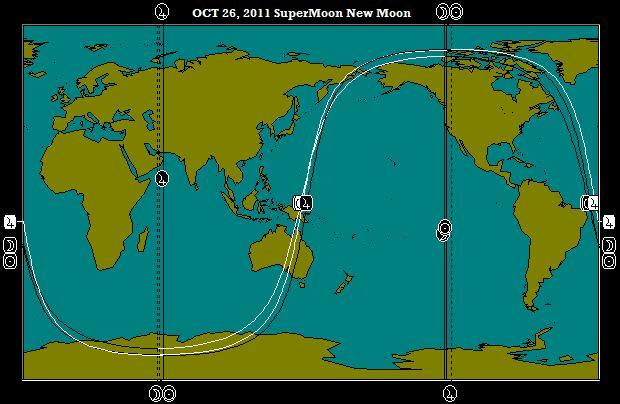 OCT 26, 2011 SuperMoon Full Moon Astro-Locality Map