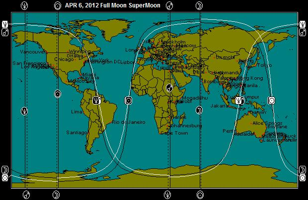 APR 6, 2012 SuperMoon Full Moon Astro-Map