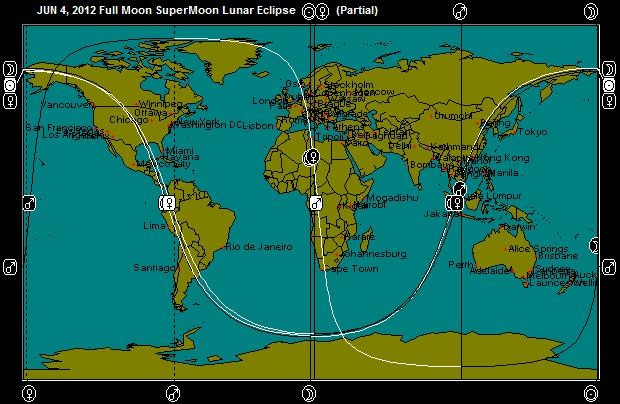 JUN 4, 2012 SuperMoon Full Moon Eclipse Astro-Map