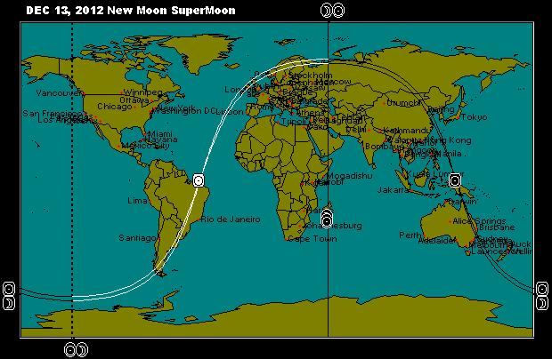 DEC 13, 2012 New Moon SuperMoon Astro-Map