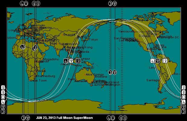 JUN 23, 2013 SuperMoon Astro-Map