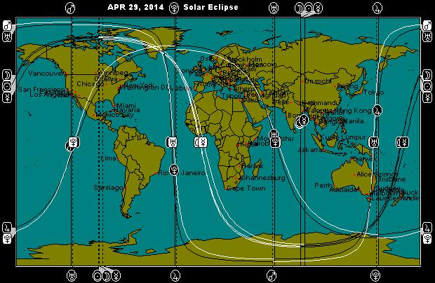APR 29, 2014 Annular Solar Eclipse Astro-Locality Map