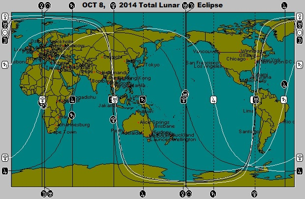 OCT 8, 2014 Full Moon (Total Lunar Eclipse) Astro-Locality Map