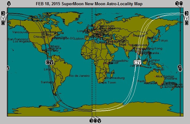 FEB 18, 2015 New Moon (Stealth) SuperMoon Astro-Locality Map