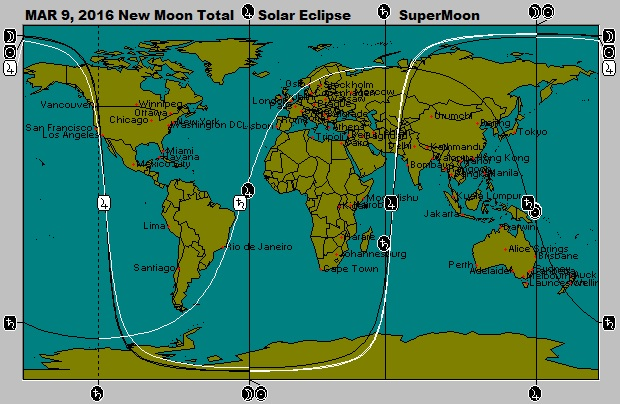 March 9, 2016 SuperMoon Solar Eclipse