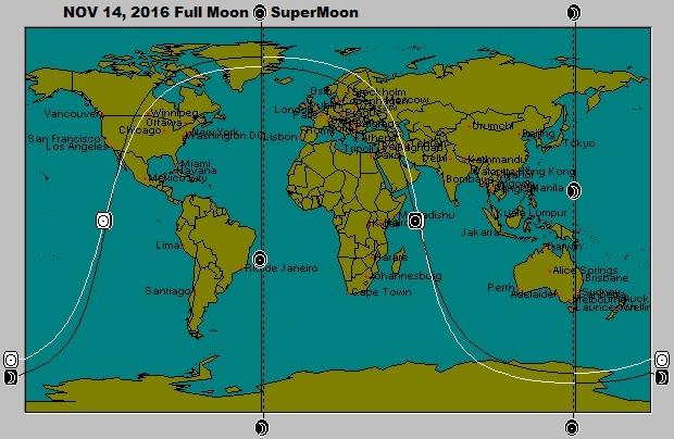 November 14 SuperMoon Full Moon