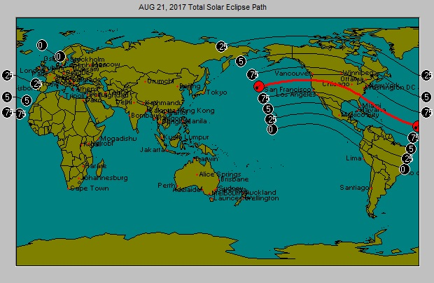 aUGUST 21 Solar Eclipse Path