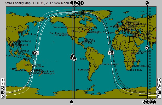 OCT 19, 2017 new Moon Astro-Locality Map