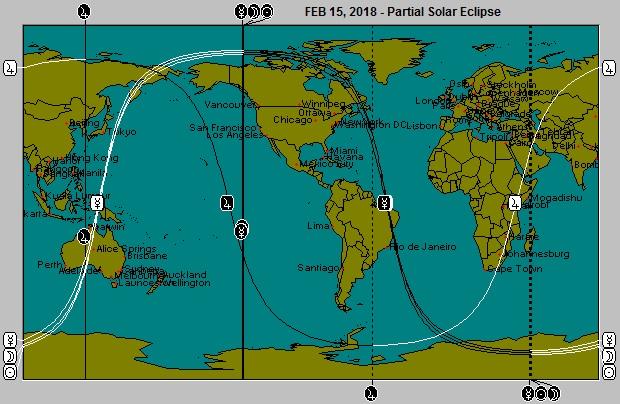 FEB 15, 2018 Partial Solar Eclipse Astro-Locality Map