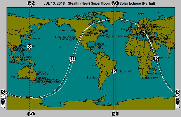 AUG 13, 2018  Stealth SuperMoon Partial Solar Eclipse Astro-Locality Map