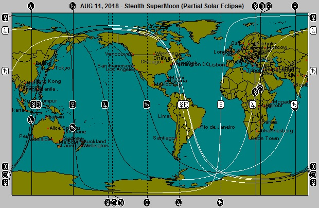 AUG 11, 2018  Stealth SuperMoon Partial Solar Eclipse Astro-Locality Map