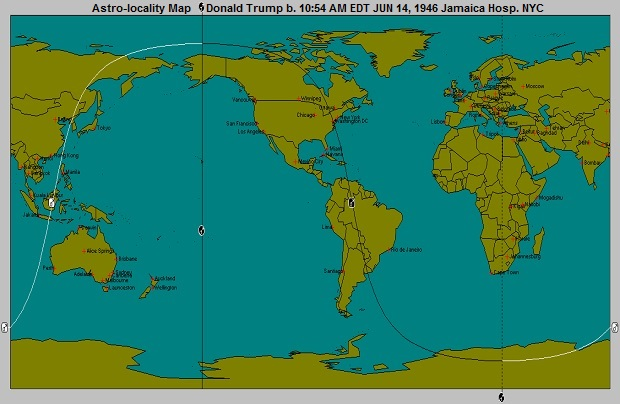 Donald Trump Astro-Locality Map